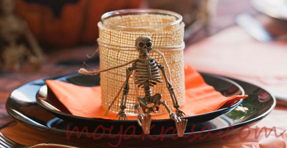 посуда на стол на Хэллоуина