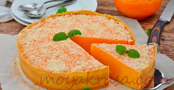 тыквенный пирог с сахарной пудрой