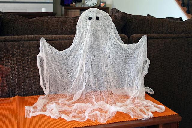 привидение своими руками на Хэллоуин