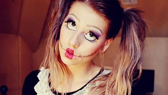 макияж куклы на праздник всех святых