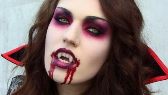 макияж для образа вампира