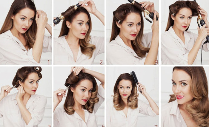 процес накручивания волос