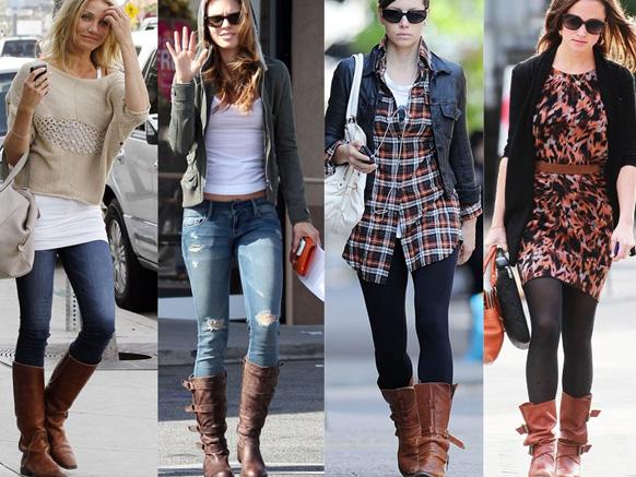 девушки в модных сапогах