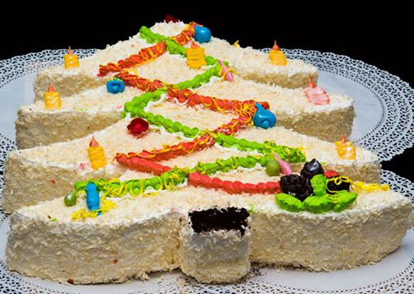 торт в виде елки