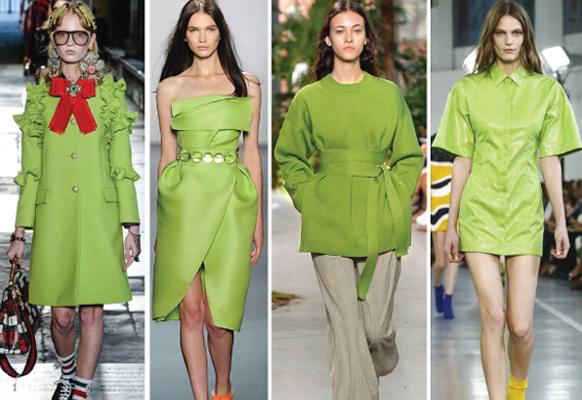 светло-зеленый цвет сезона 2017 года