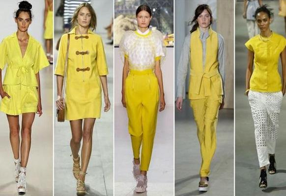 модный желтый цет одежды 2017 года