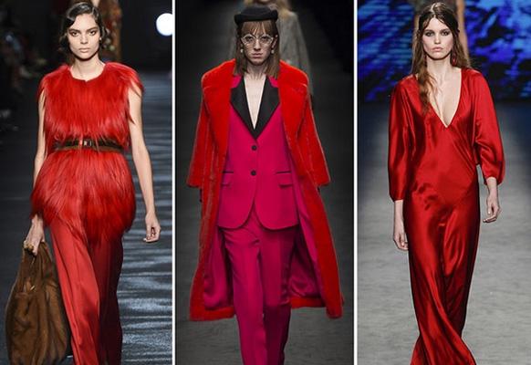 красный цвет одежды - тренд 2017 года