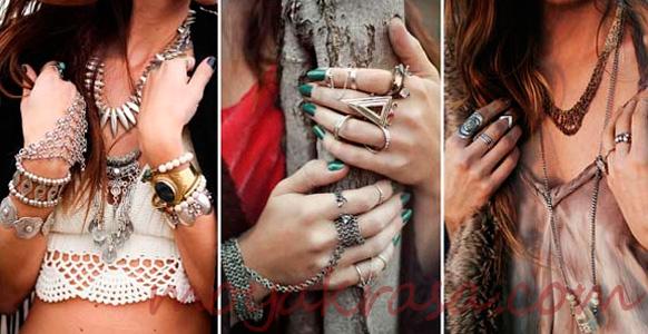 стильные кольца и браслеты