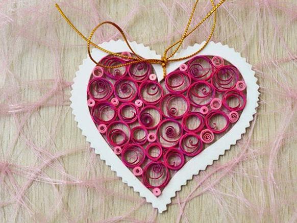 валентинка в виде сердца