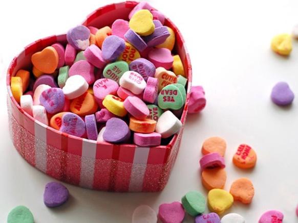 сердечки из поролона на день влюбленных