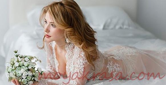 невеста в свадебном белье