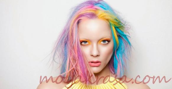 яркое мелирование волос