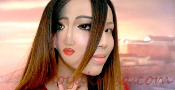 креативный страшный макияж