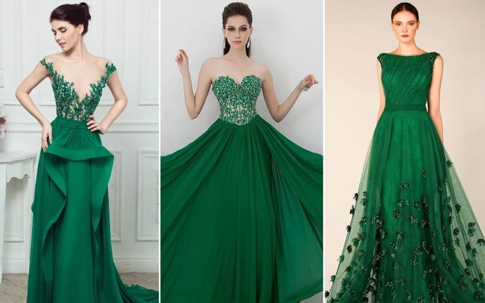 зеленое платье для встречи нового года 2018