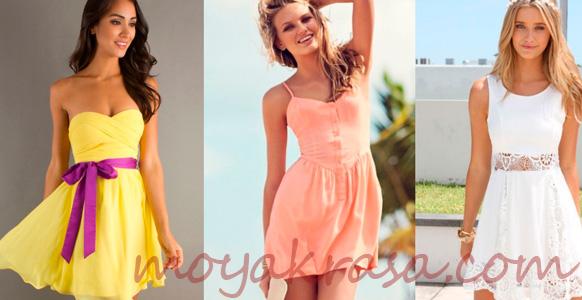 девушки в коротких летних платьях