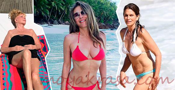 актрисы Голливуда в модных купальниках