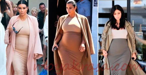 беременная актриса в летнем платье