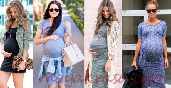 выбор беременных звезд летних платьев