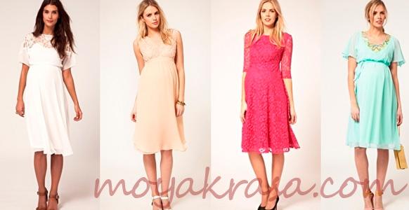 легкие платья для беременных на лето