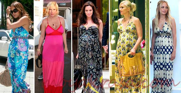 беременные знаменитости в летних платьях