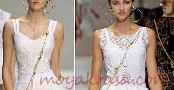 белое нарядное платье для лета