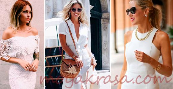 девушки в белых летних платьях