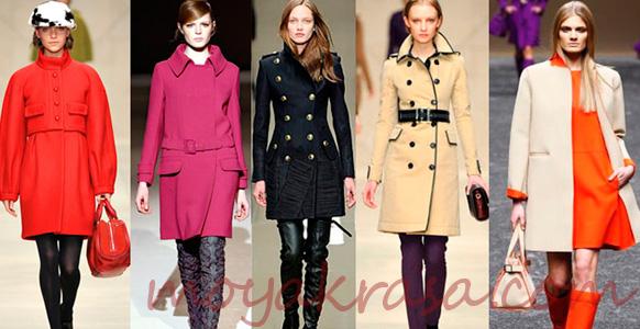 стильные осенние пальто для женщин