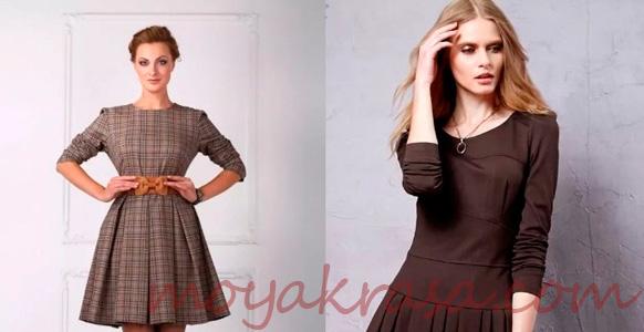 коричневые платья для осеннего сезона