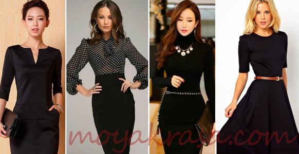 модные осенние платья черного цвета