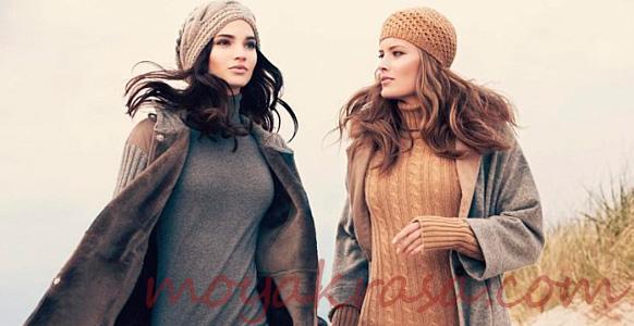 девушки в осенних вязанных платьях