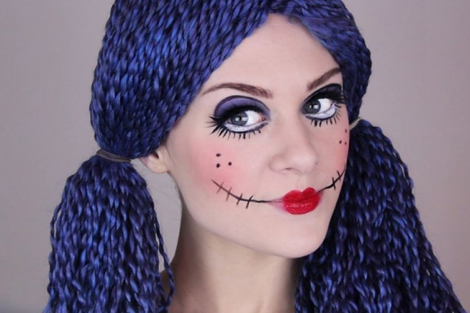 кукольный грим для костюма на Хэллоуин