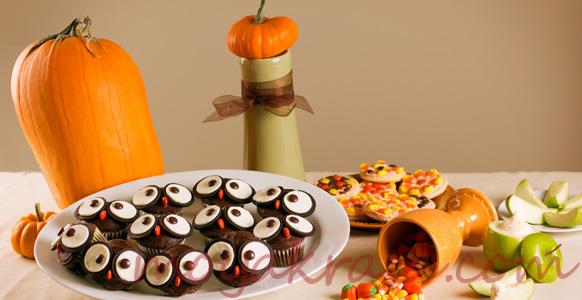 праздничный стол на Хэллоуин