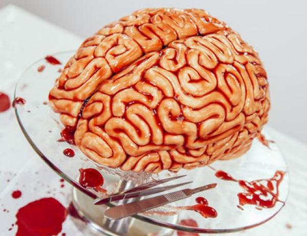 """торт """"Мозг Зомби"""" на Хэллоуин"""
