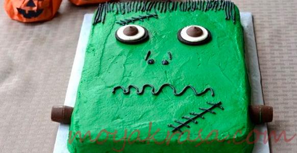 "рецепт торта ""Френкенштейн"" на Хэллоуин"