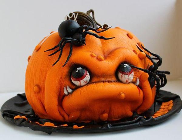 """торт """"Тыква"""" на Хэллоуин"""