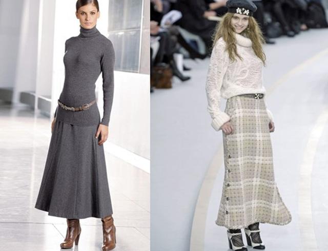 зимние теплые юбки