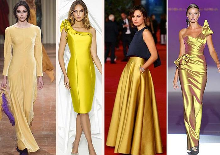 новогодние наряды в желтых и лимонных оттенках