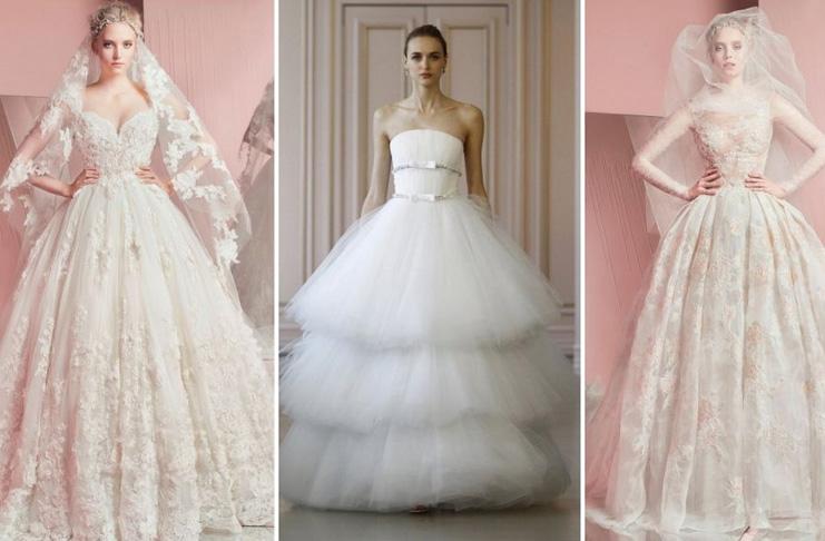 воздушные свадебные платья