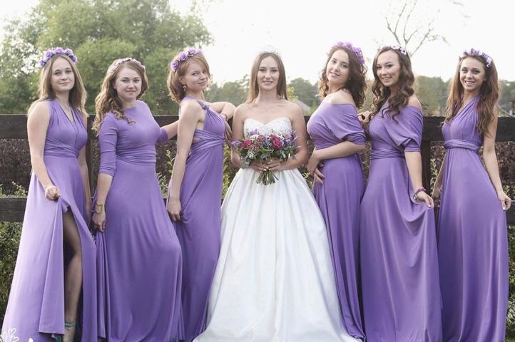 нарядные подруги невесты