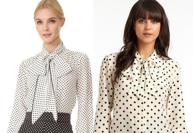 деловой стиль блузки
