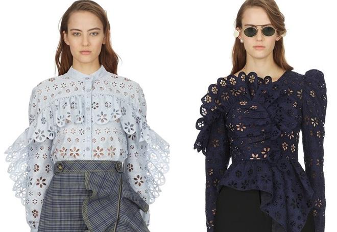 стильные кружевные блузки