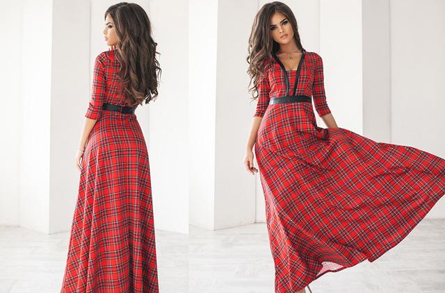 девушки в красных клетчатых платьях