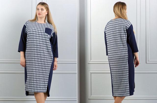 платье из клетчатой ткани