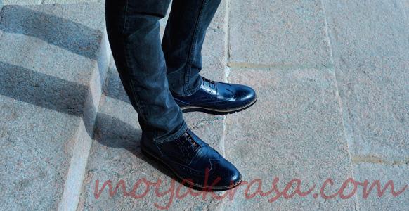выбор мужских туфлей под классические джинсы
