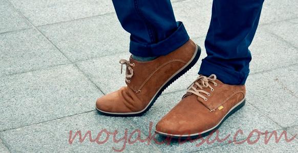 мужские туфли с джинсами