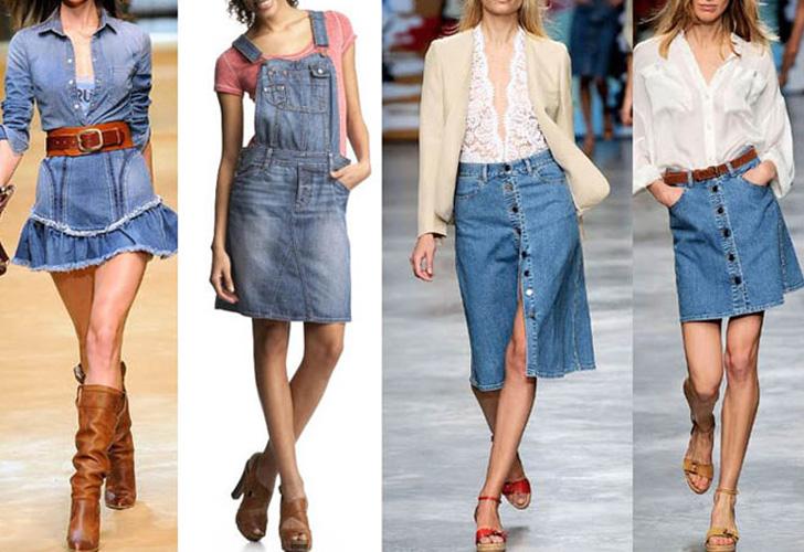 длинные джинсовые юбки