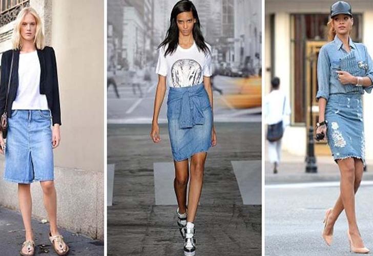 супермодные джинсовые юбки