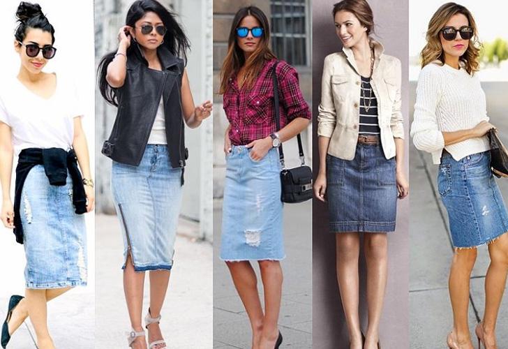 модные юбки из денима