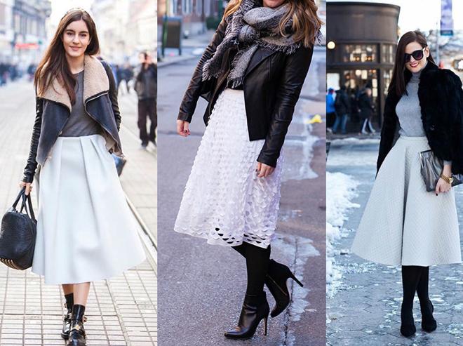 белые юбки и черные сапоги