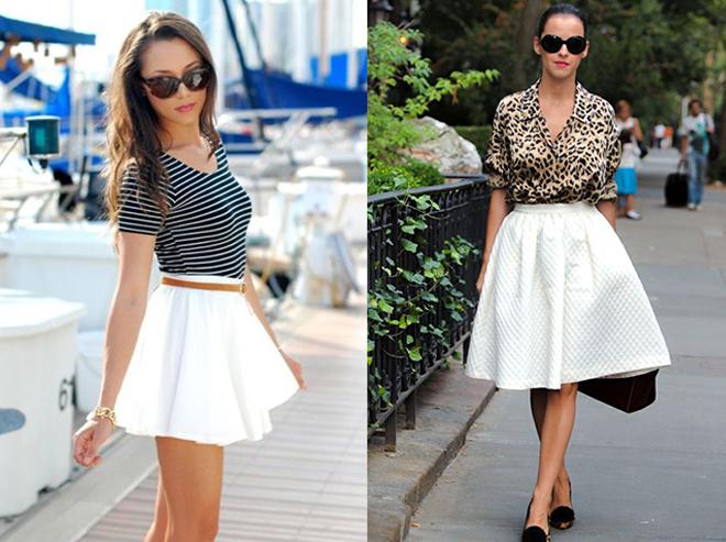 белые короткие юбки